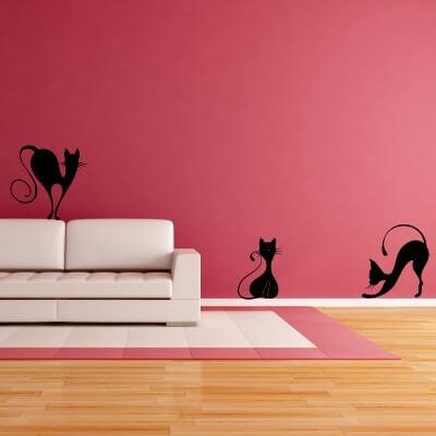 adesivi murali gatti