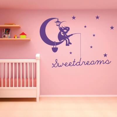 adesivo murale frase bambino