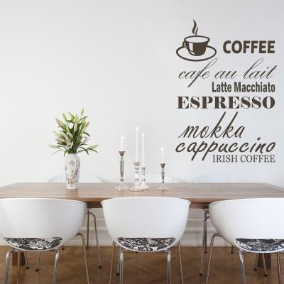 adesivo parete caffè