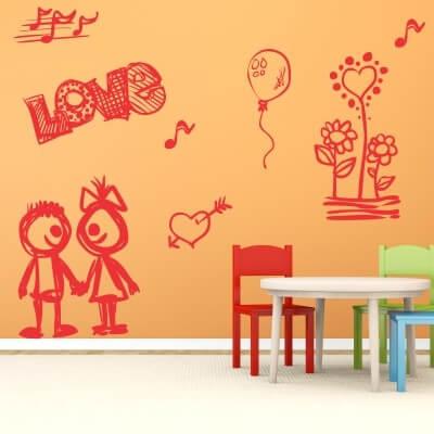 adesivo parete frasi bambino