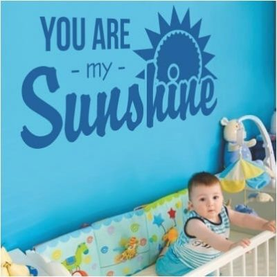 stickers murale scritta bambino